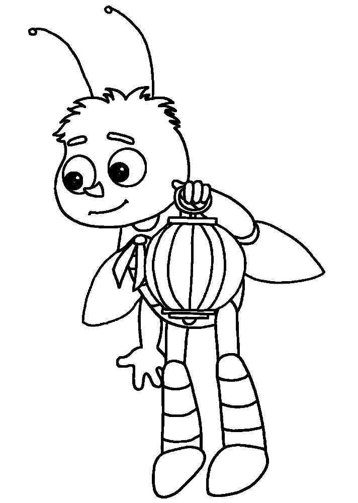 Полезные и интересные раскраски для детей Лунтик