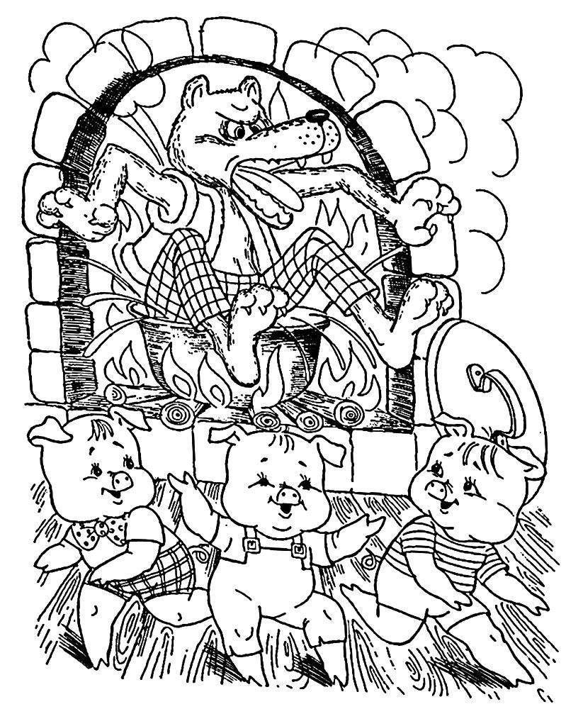 раскраски сказки для малышей и детей дошкольного возраста