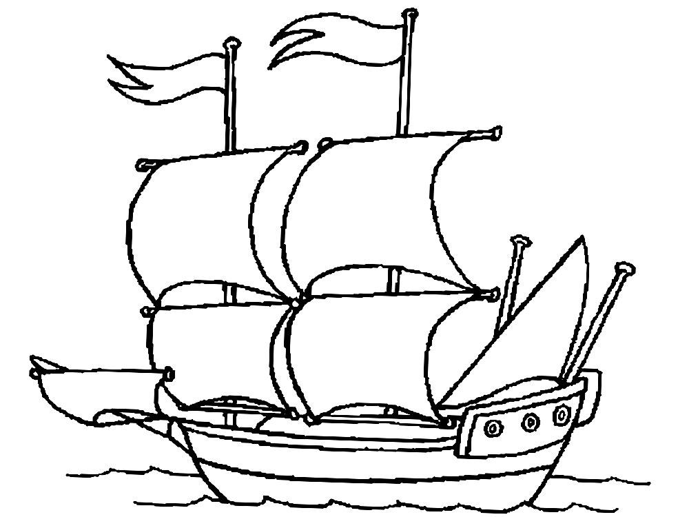 корабль для детей картинки