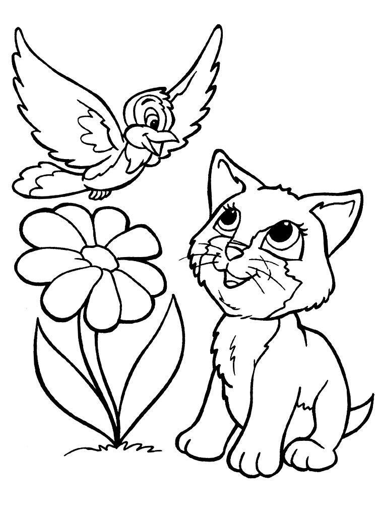 Кошки развивающие детские раскраски