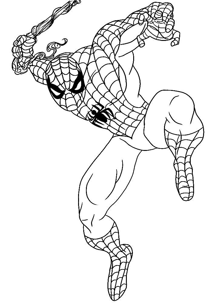 раскраска человек паук распечатка
