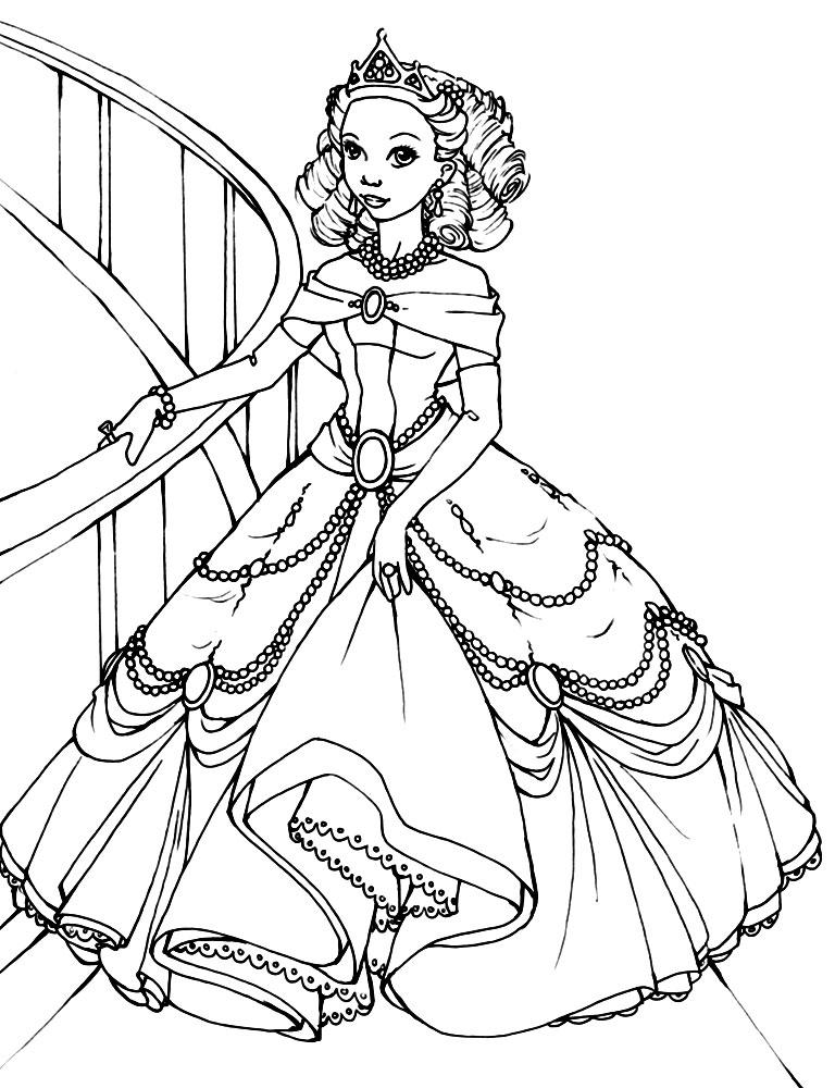 Раскраски и картинки для девочек принцессы