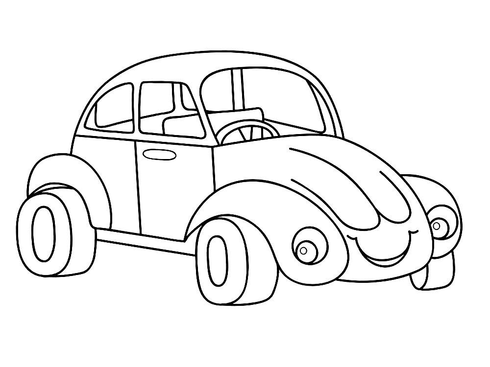 раскраски машины для малышей и детей дошкольного возраста