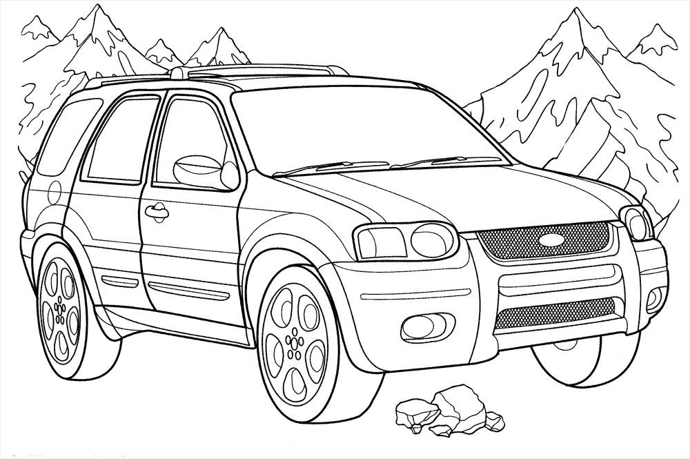 Раскраски автомобили для мальчиков