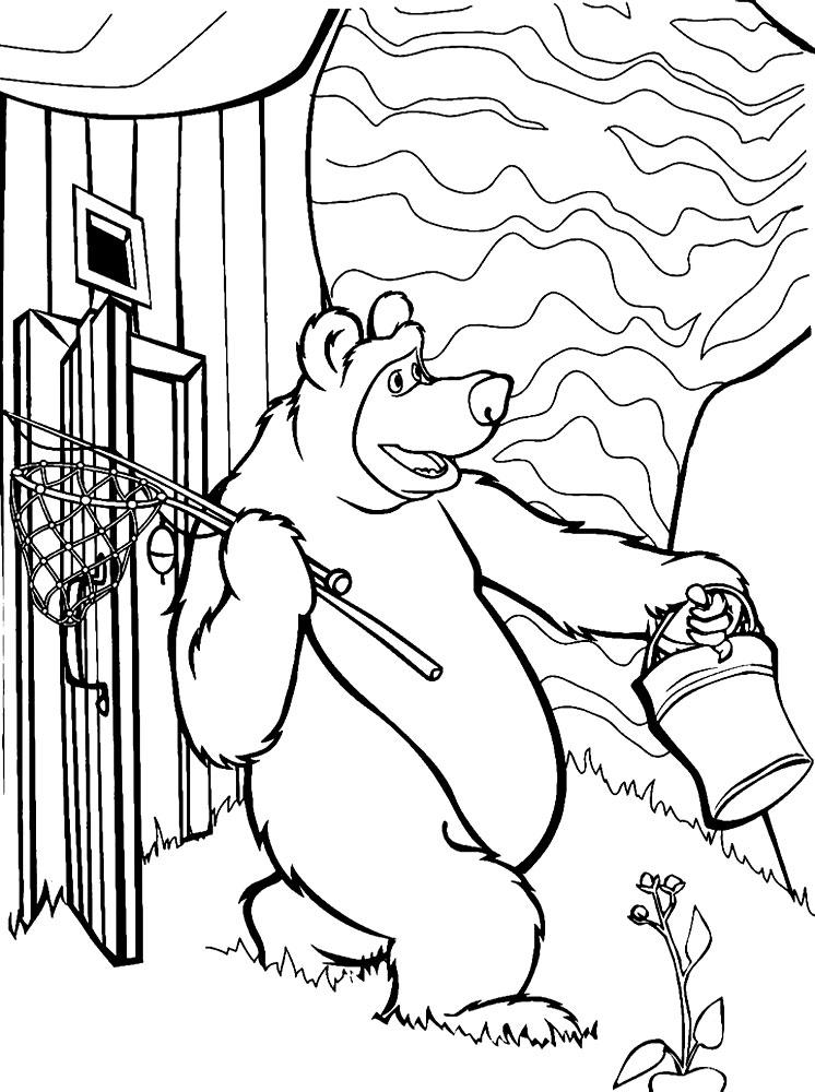 Раскраски Маша и Медведь для малышей и детей дошкольного ...