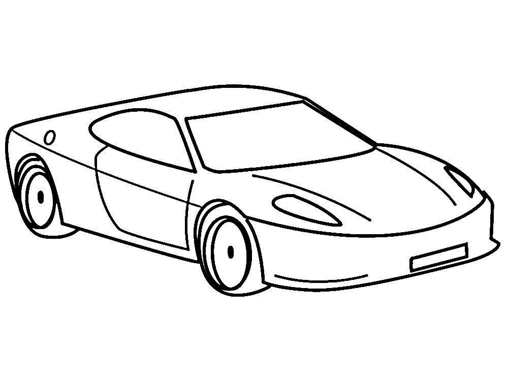 раскраски машины картинки