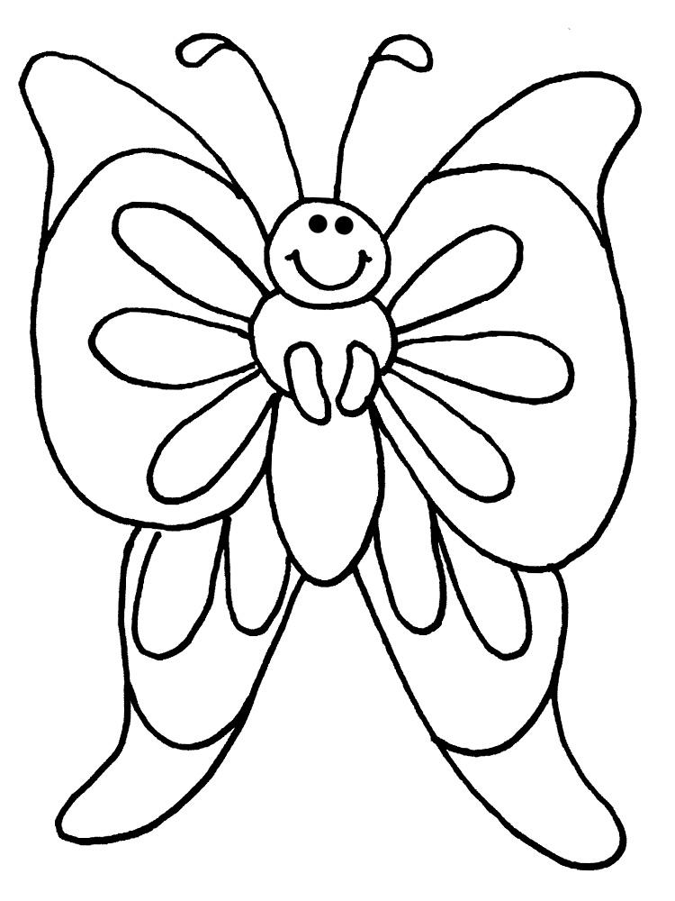 Раскраски для девочек бабочек