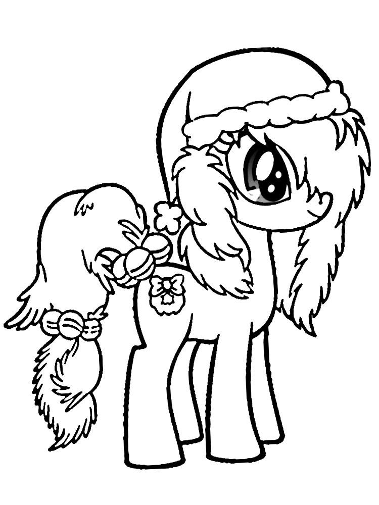 Маленькая пони раскраски для малышей