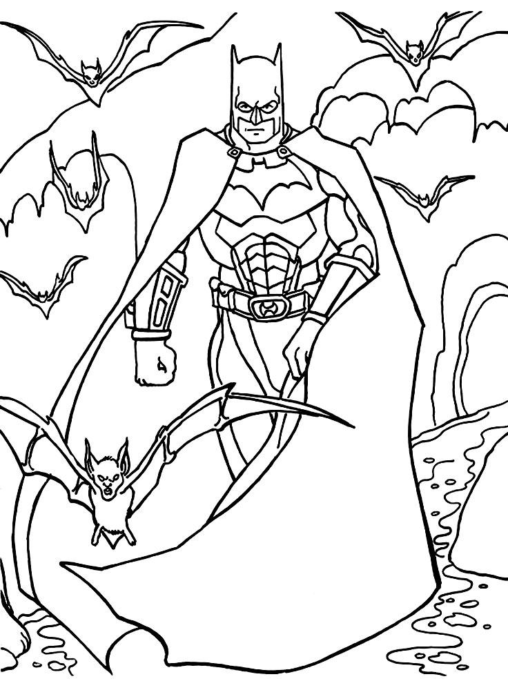 Раскраски для детей бэтмен