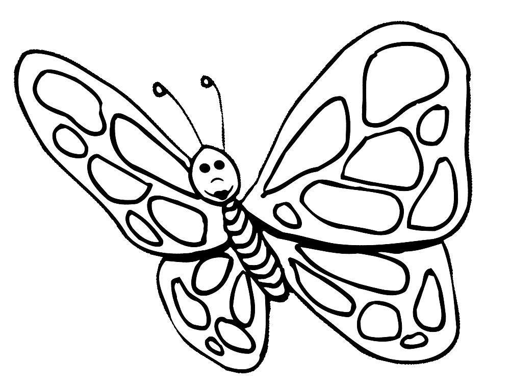Бабочки раскраски детские