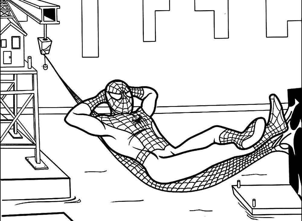 человек паук картинки распечатать