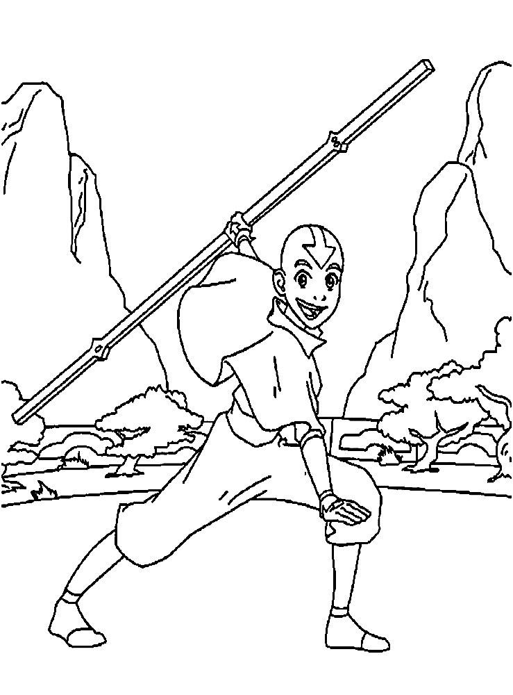 раскраски аватар легенда об аанге: