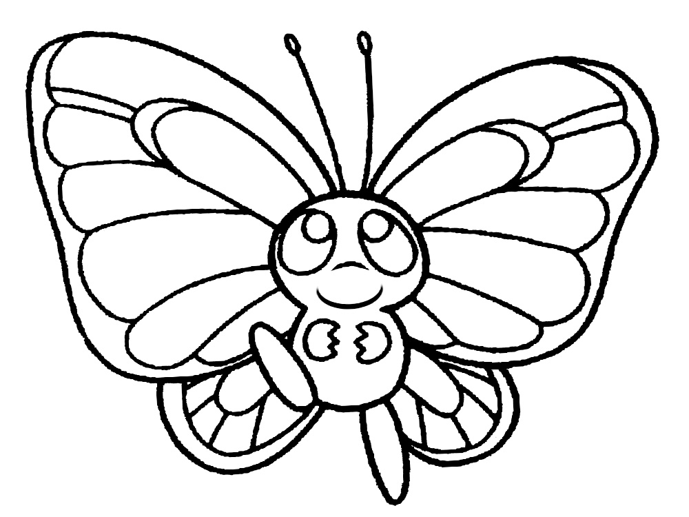 Раскраски бабочки на принтере