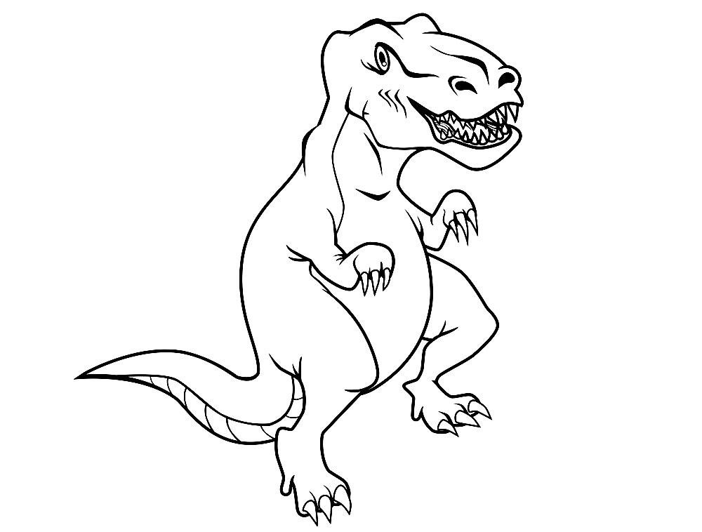 про раскраски онлайн динозавров бесплатно