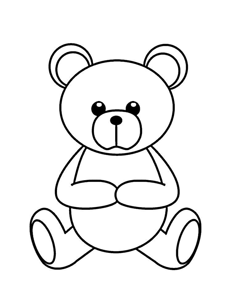Мишка раскраски для детей 195