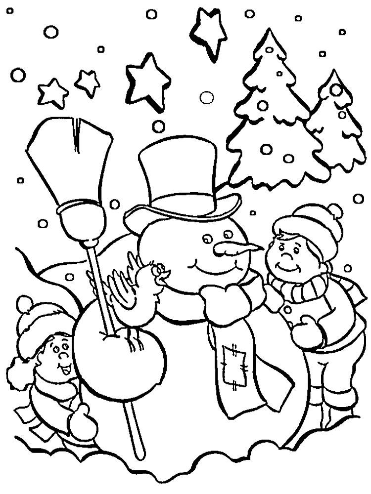 Раскраски новогоднее чудо