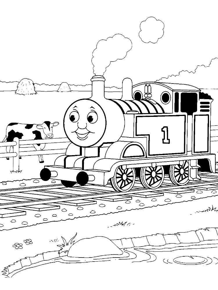 Раскраски для мальчиков про паровозики - 1