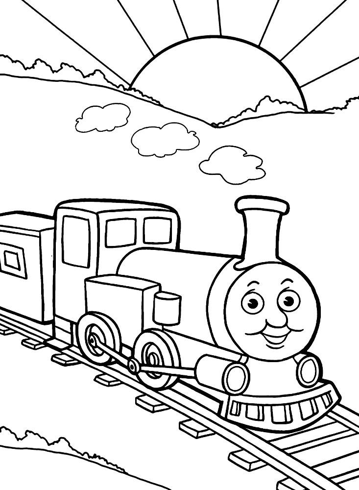 Картинка Паровозик Для Детей Раскраска