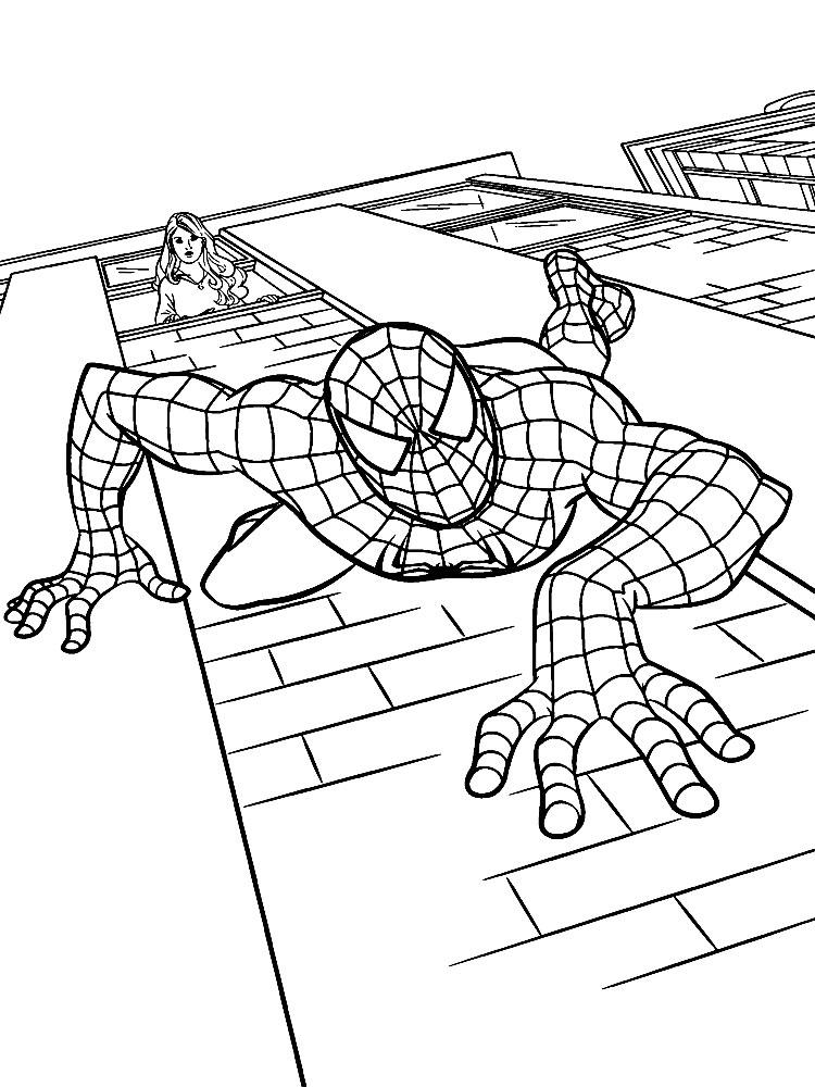 человек паук картинки для раскрашивания