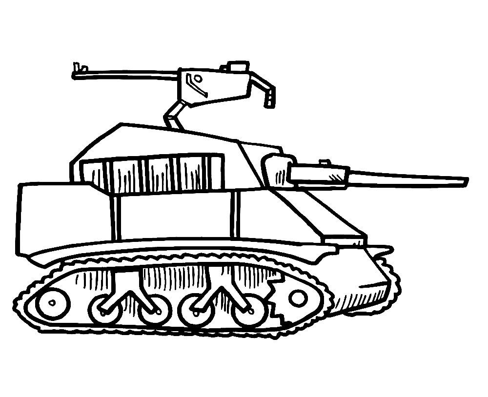 раскраски танки для малышей и детей дошкольного возраста
