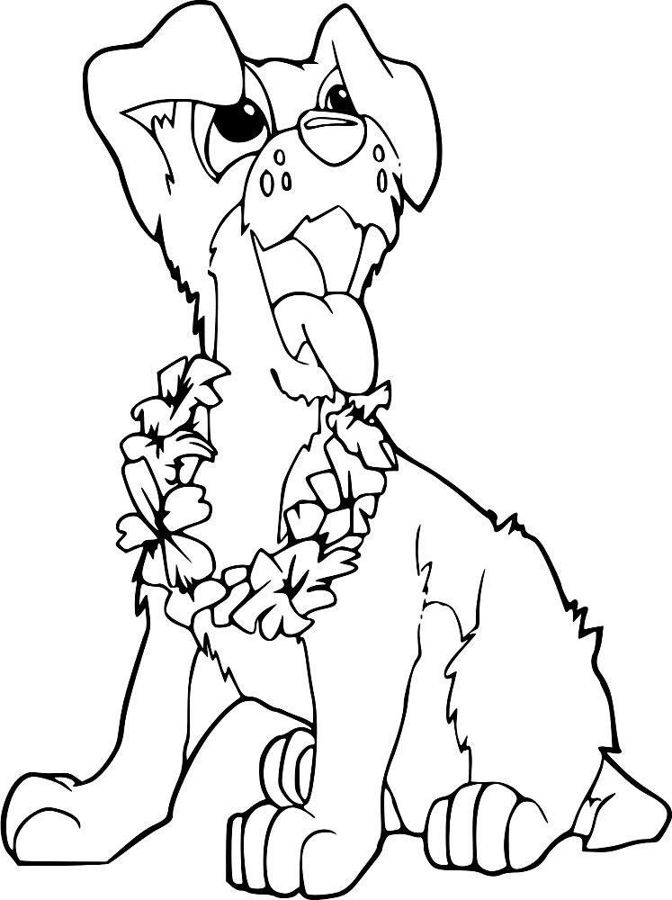 Собаки - картинки для разукрашивания и детского творчества