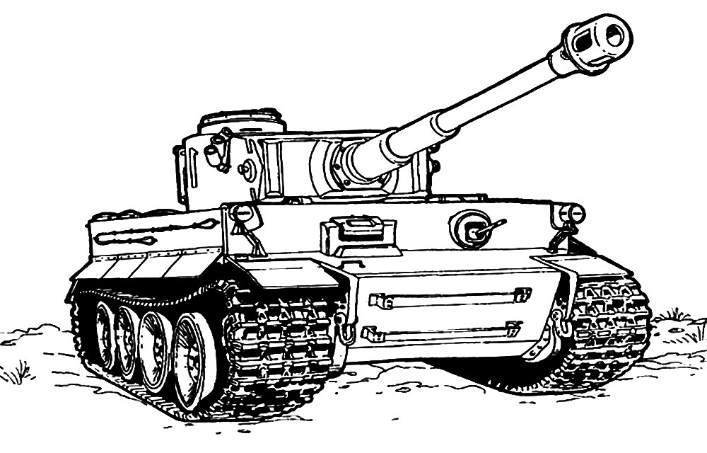 Раскраски танки для мальчиков