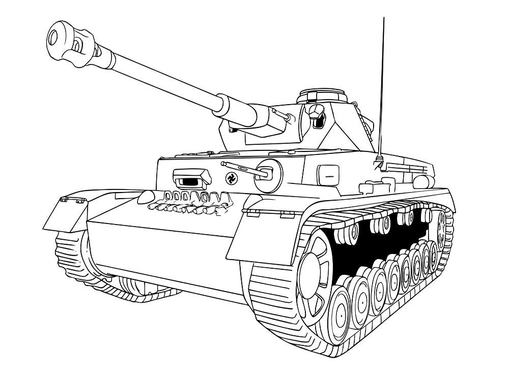 Раскраски танки скачать и распечатать