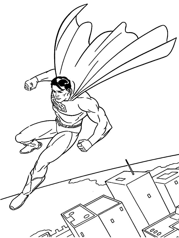 Раскраска супермен онлайн