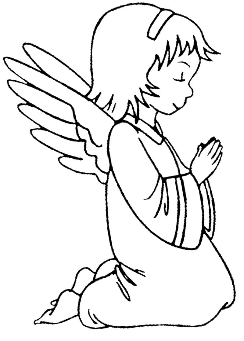 Рисунки для девочек ангел