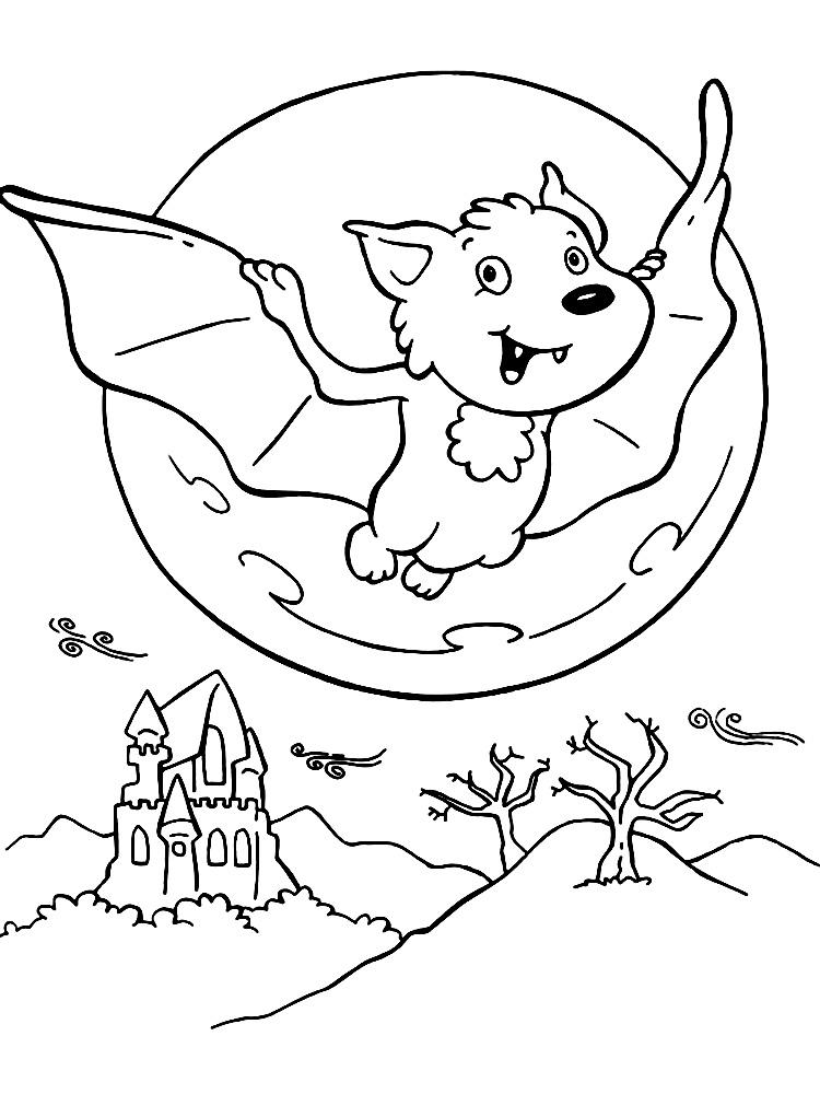 Раскраски для детей хэллоуин