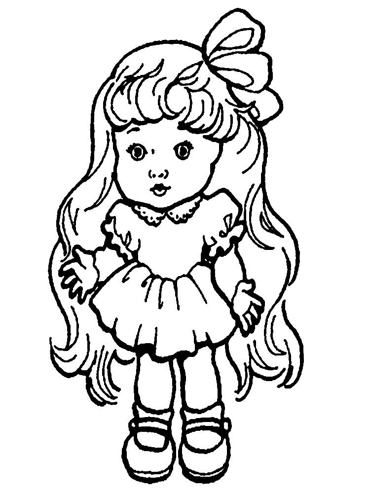 Качайте или печатайте прямо на сайте раскраски куклы