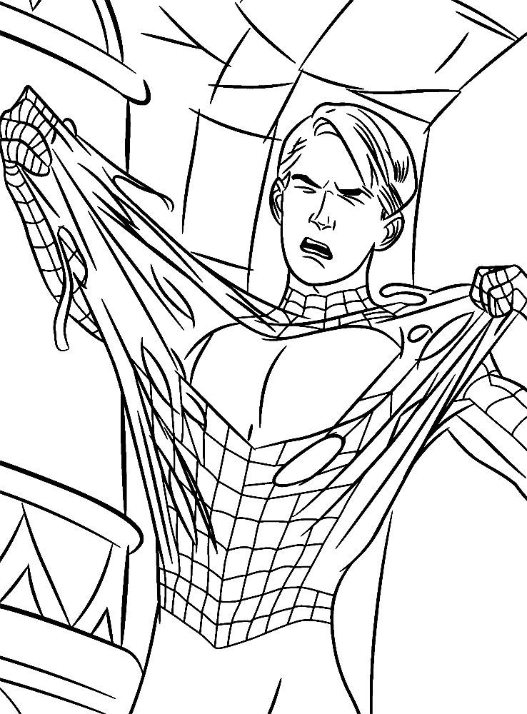 Раскраски и картинки для девочек Человек-паук
