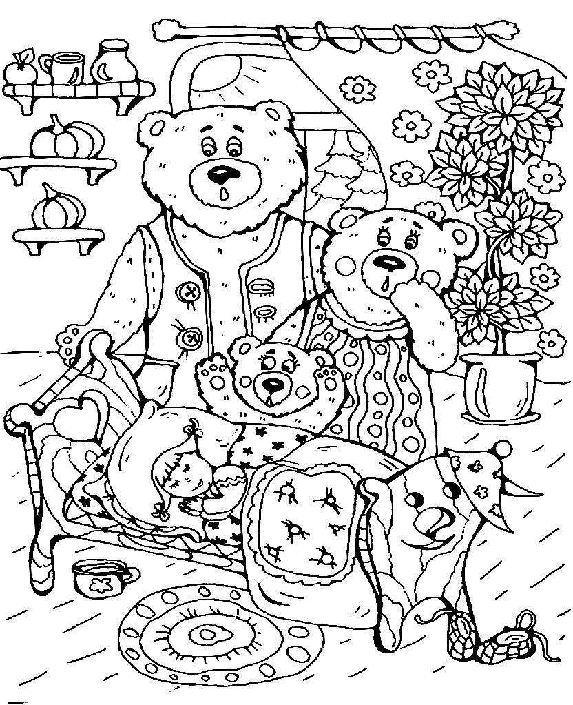 сказки развивающие детские раскраски