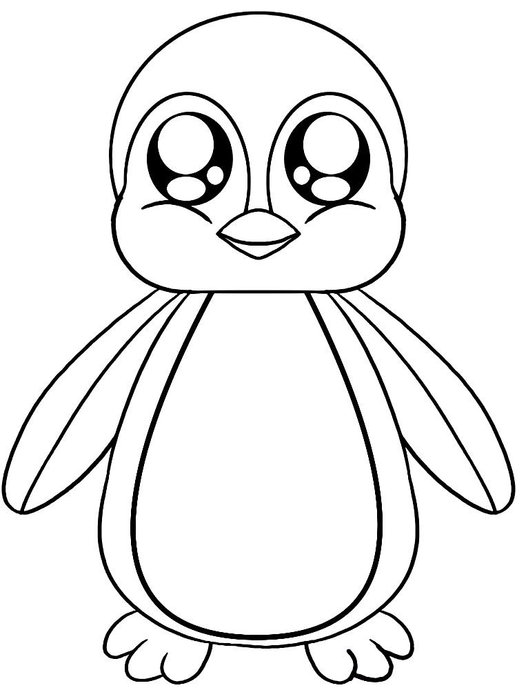 Пингвинёнок Раскраски онлайн 3 года