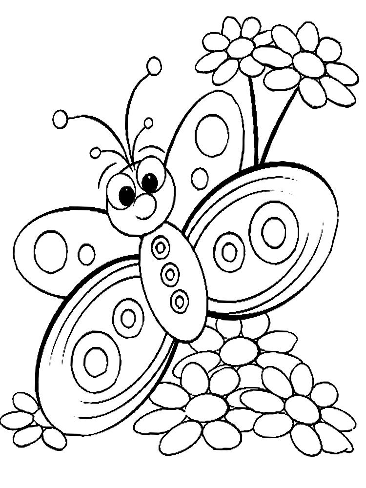 Детские раскраски с цветами распечатать