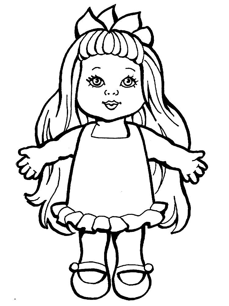кукла картинка для детей раскраска