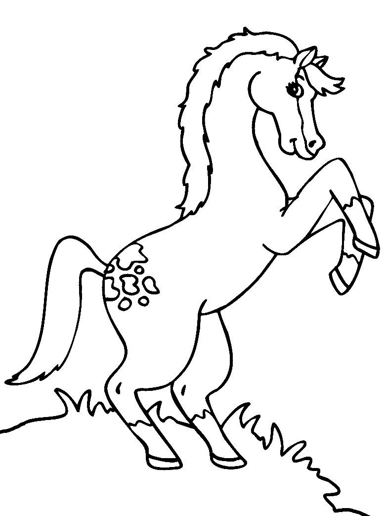 Раскраска лошади чтобы распечатать