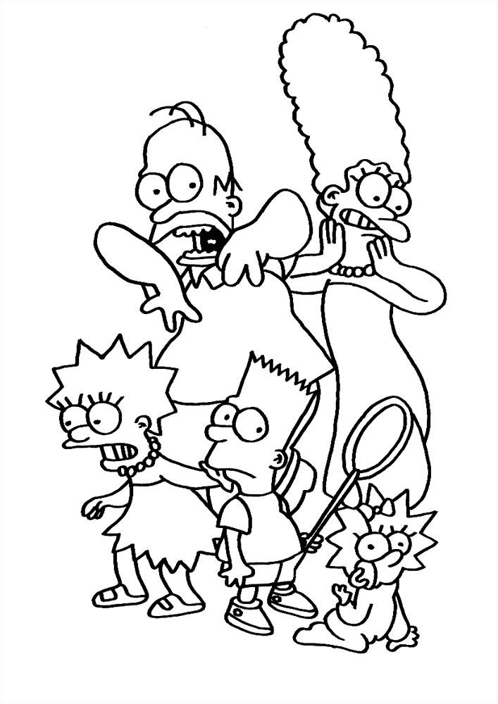 симпсоны черно белые картинки