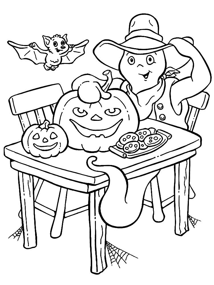 Раскраски Хэллоуин для мальчиков