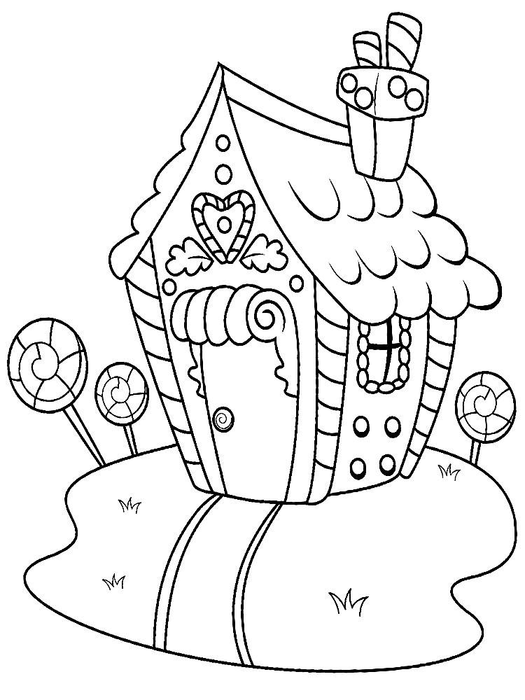 Раскраска домик в картинках 157