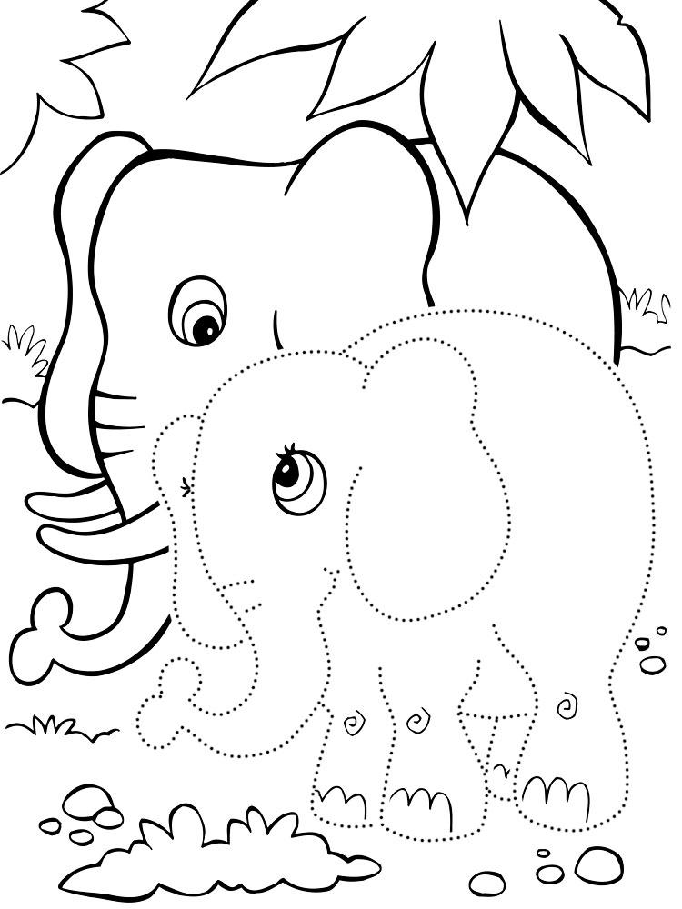 нарисовать по точкам и раскрасить животные очень просто с