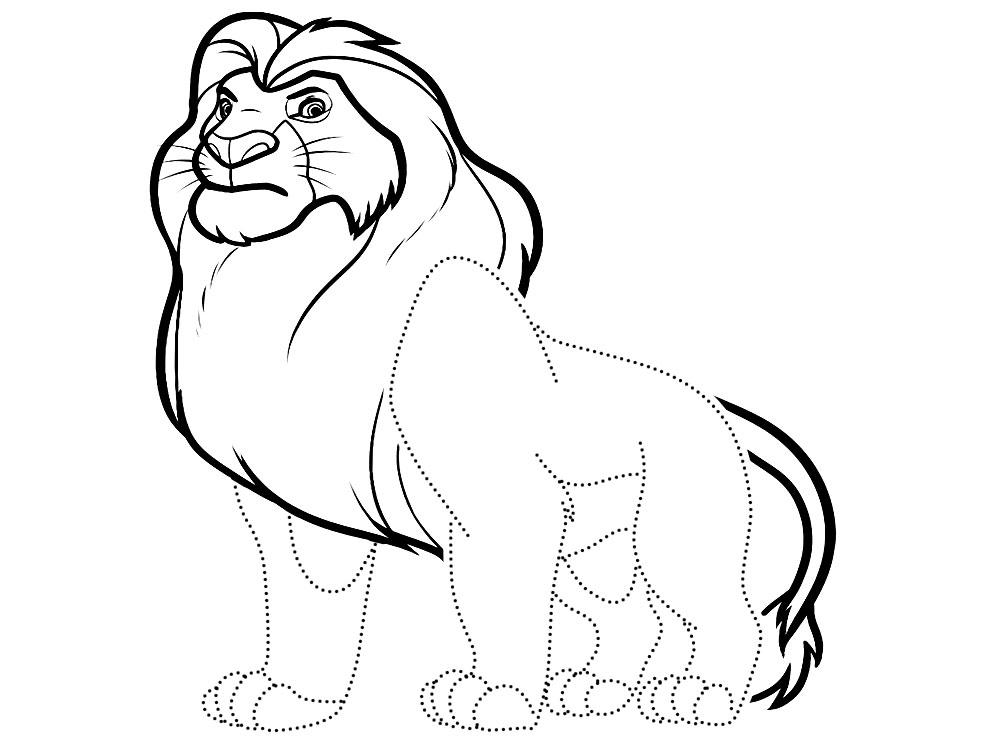 Обвести по точкам рисунки с королем