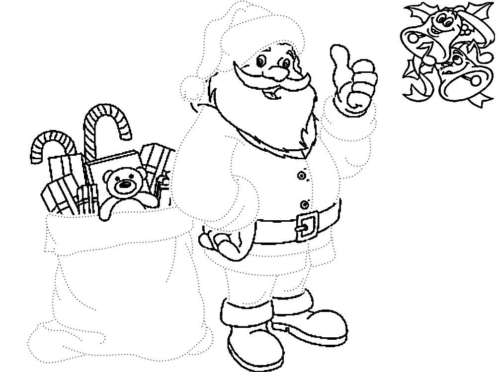 Новогодние раскраски по точкам для детей