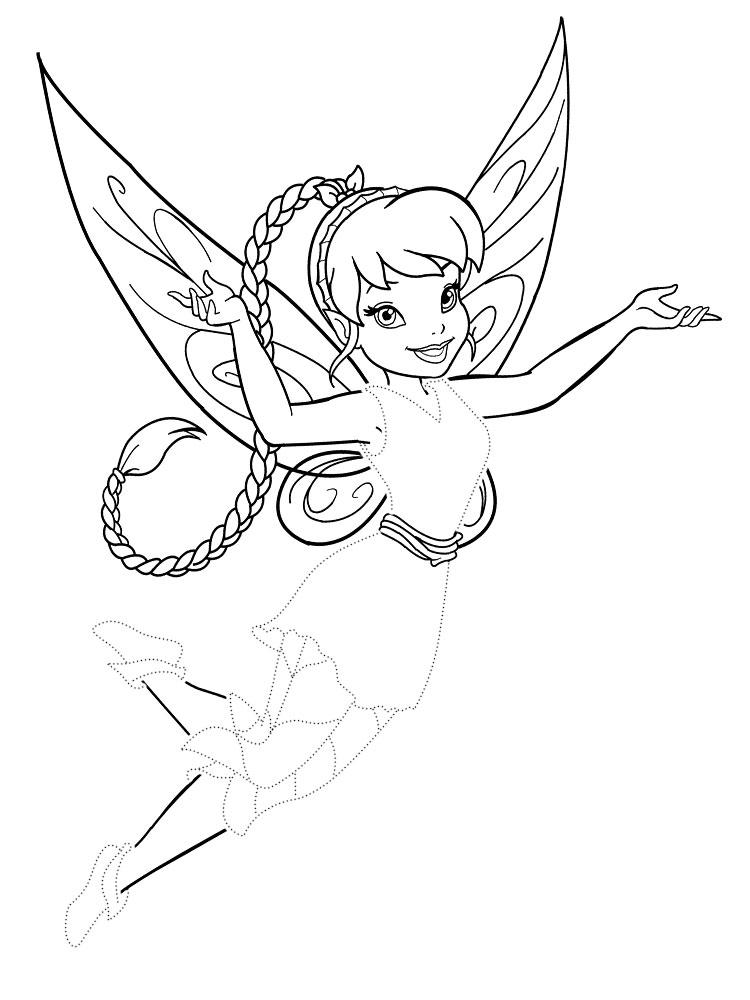 Раскраски для девочек-фея