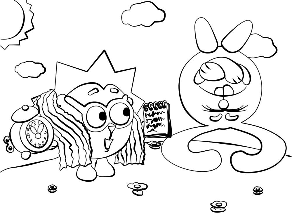 Раскраски и картинки для девочек Ежик из Смешариков