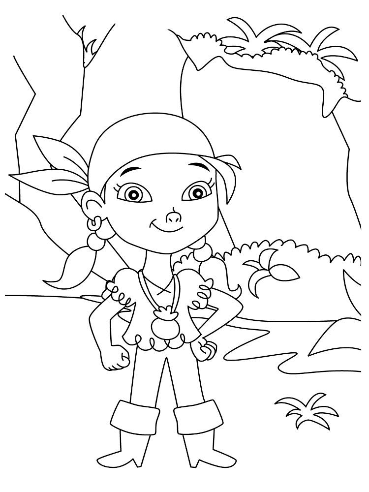 раскраски джейк и пираты нетландии для малышей и детей