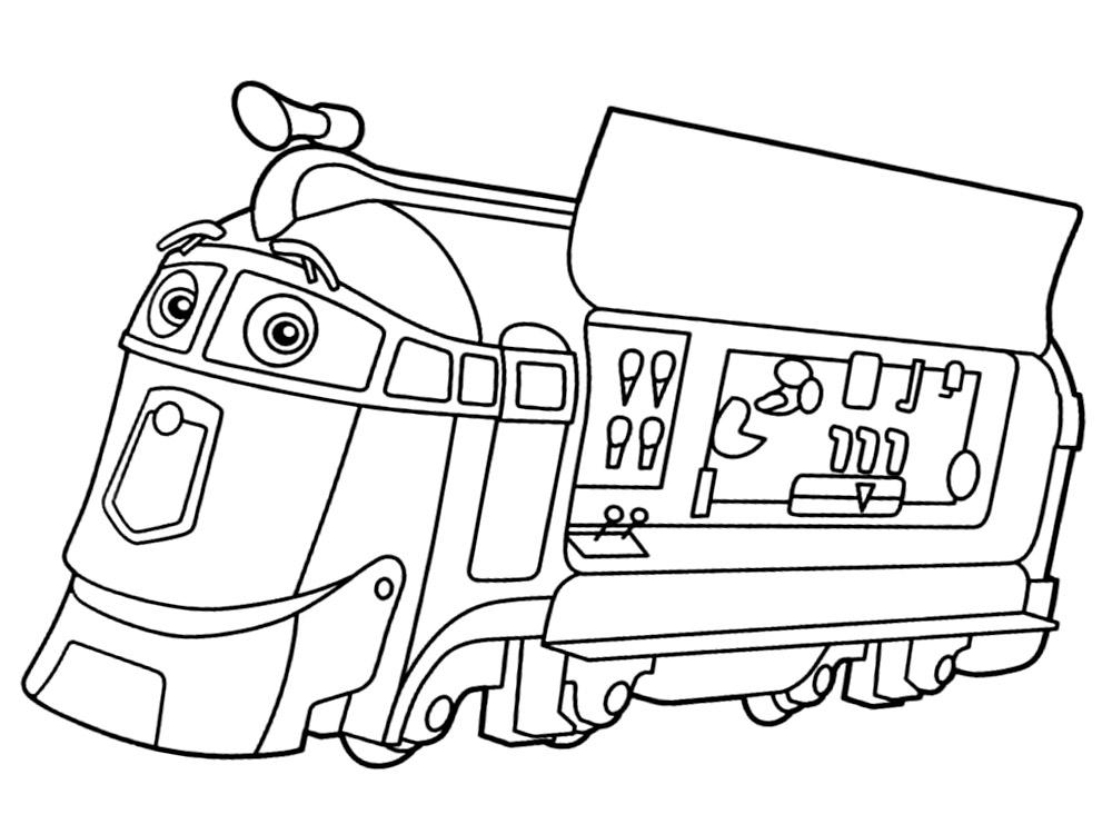 Раскраска паровозики чаггингтон распечатать