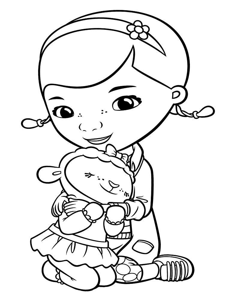 Детская раскраска девочка