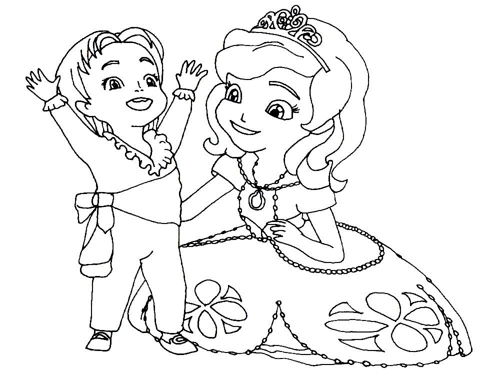 Раскраски принцесса София для мальчиков