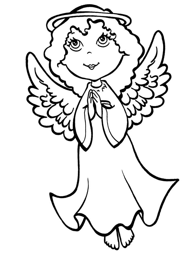 Картинки ангелочки раскрашиваем онлайн или печатаем на ...